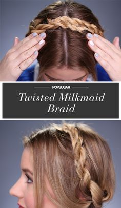 combine a twist and the milkmaid braid