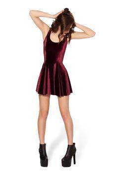 Black Milk - Velvet Mulled Wine Evil Skater Dress