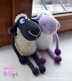 FREE!!! MULTI-LINGUAL PATTERN! Purple Sheep Sheep Preparation-Amigurumi Amigurumi Free Pattern - Tiny Mini Designer