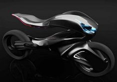 """The Mercedes One Class Revenge motorcycle concept by Alfonso Nuñez Perea, it is """"powerful, dynamic and sculptural."""" Specializing in Advanced Industrial Design in Córdoba, Argentina… Futuristic Motorcycle, Futuristic Cars, Motorcycle Bike, Futuristic Vehicles, Motorcycle Quotes, Concept Motorcycles, Cool Motorcycles, Triumph Motorcycles, Mercedes Sport"""