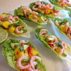 Edel's Mat & Vin : Hjertesalat med reker, hot mango & avokado 💕 Frisk, Vinaigrette, Bruschetta, Chili, Mango, Tacos, Food And Drink, Mexican, Ethnic Recipes