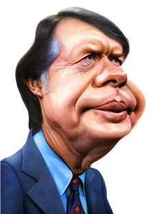 Jimmy Carter // By Morchoisne (Caricature) Dunway Enterprises: http://dunway.com - http://masterpaintingnow.com/how-to-draw-everything?hop=dunway