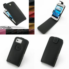 PDair Leather Case for Acer Liquid Gallant Duo E350 - Flip Top Type (Black)
