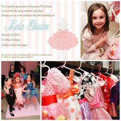 Adorable fashion birthday party