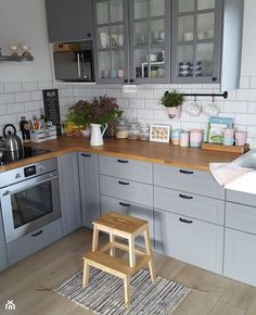 Home Decor Kitchen .Home Decor Kitchen Kitchen Room Design, Kitchen Cabinet Design, Home Decor Kitchen, Kitchen Interior, New Kitchen, Home Kitchens, Kitchen Dining, Little Kitchen, Apartment Kitchen