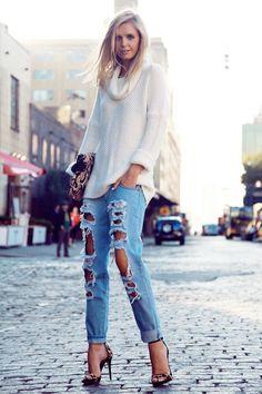 Para inspirar Calça jeans destroyed (2)