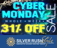 Cyber Monday Week - ALL Jewelry 31% OFF - Only Once a Year