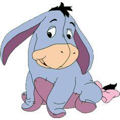 Eeyore amigo de Pooh bebe - Imagenes de Pooh baby y amigos