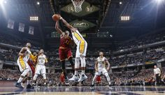 """LeBron James scored 24 points with 12 rebounds, and Kyrie Irving scored 25 points with 7 rebounds, as the Cleveland Cavaliers gutted out a 111-106 victory in OT over the Indiana Pacers on Monday night. Their fifth win in a row, the Cavs are now in the lead in the NBA s Eastern Conference by 3.5 games over the second place Toronto Raptors. Indiana has lost seven of their last ten and remain in eighth place in the East. .@Cavs """"Big 3"""" final numbe"""