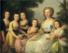 Portrait of Countess A S Protasova with Her Nieces - Angelica Kauffman, 1788,  Hermitage, St. Petersburg, Russia