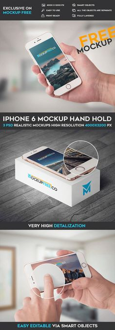 Free iPhone 6 Mockup Hand Hold PSD | Free Psd Templates | #free #photoshop #mockup #psd #apple #iPhone6 #hand #hold