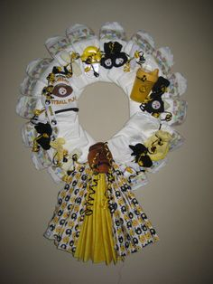 Pittsburgh Steelers Baby Boy Wreath by tappergirl99 on Etsy, $50.00