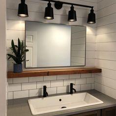 Bathroom Renos, Laundry In Bathroom, Bathroom Interior, Small Bathroom, Master Bathroom, Bathroom Ideas, Contemporary Bathroom Sinks, Home Decoracion, Upstairs Bathrooms