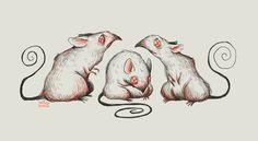 Three Blind Mice for Sketch_Dailies