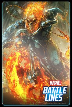 Ghost Rider: Marvel Battle Lines Marvel Comics Superheroes, Marvel Heroes, Marvel Avengers, Marvel Games, Marvel Storyline, Marvel Comic Character, Thanos Marvel, Marvel Fan, Marvel Writer