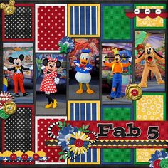 "Disney's ""Fab 5""...a bit of work, but can use up some scraps and the bonus pictures Disney gives 