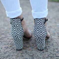 Fun printed heels