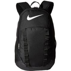 Nike Brasilia 7 Backpack XL (Black/Black/Black) Backpack Bags ($50) ❤ liked on Polyvore featuring bags, backpacks, zipper bag, polyester backpack, pattern backpack, day pack backpack and print bags