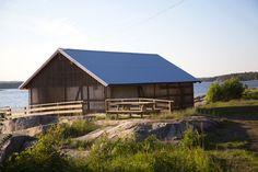 snøhetta hudøy boat house cabin norway designboom