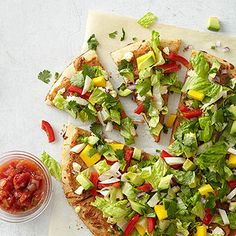 Fresh Mexican Salad Pizza From Better Homes and Gardens, ideas and improvement projects for your home and garden plus recipes and entertaining ideas.