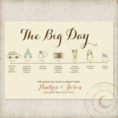 wedding day timeline - Charis Design Studio