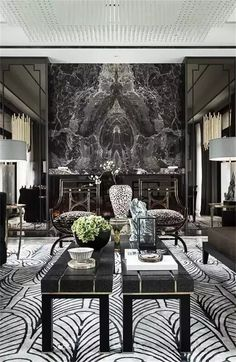 Love the elegance of this black & white theme!