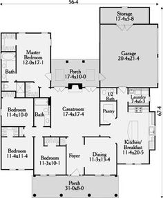 Angelbrook 3663 - 4 Bedrooms and 2 Baths | The House Designers