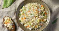 Cooking Cauliflower Rice, Vegetarian Cauliflower Recipes, How To Cook Cauliflower, Cauliflower Risotto, Vegetarian Meals, Rice Dishes, Rice Recipes, A Food, Food Processor Recipes