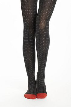 Pin Dot Sweater Tights - Anthropologie.com