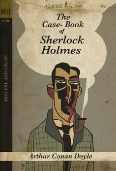 The Case-Book of Sherlock Holmes with cover done by Spanish illustrator Joaquin Pertierra