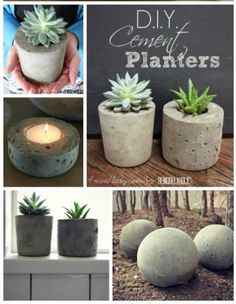 Make Your Own Cement Planters and Garden Globes