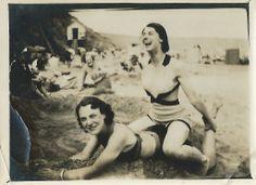Vera & Joan on the beach