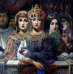История искусств Императрица Феодора с придворными.
