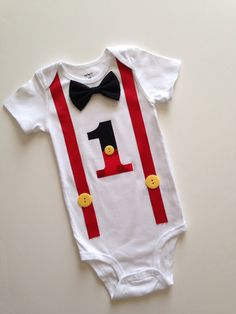 Mickey First Birthday Onesie Boys 1st Birthday by SweetTootsy, $35.00