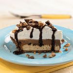 Chocolate-Toffee Ice Cream Pie Recipe   MyRecipes.com.  I use a Kinnick gluten free graham cracker crumbs and make a crust or use a gf pre made gf graham cracker crust.  SOOOOOO yummy