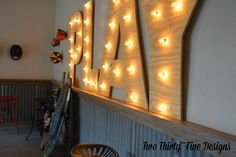 Vote for the DIY Plywood Marquee Letters Featured on #BobVila!