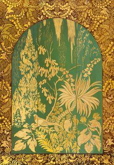 Armand Albert Rateau - Panneau Mural - Laque Dorée sur Bois - 1925