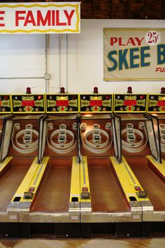 Skee Ball....nuff said!