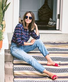 View From The Topp Blogger - Denim Must-Haves | We got up close and personal with View From The Topp's Kate Brien to talk vintage shopping, Levi's, and style icons. Get inspired. #refinery29 http://www.refinery29.com/how-to-style-denim