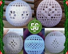 50 % off 5 crochet christmas balls ornament pattern