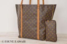 Louis Vuitton Monogram Sac Shopping With Pouch Tote Bag M51110