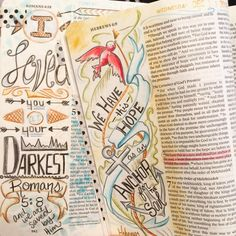 Tonight I was thinking back on the last year... Wow! What a ride! These two pages were my very first entry in my bible... And I was so nervous! But, I soon got over that! It's been almost a year since the first time I spotted someone coloring in their bible ( @shannanoel ) and I was hooked! I have always been a visual person and I still remember seeing my grandmother write in her bible as a small child and thinking... I'm going to do that! And believe it or not, that ruffled a few feathers w
