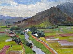 Hanalei Patchwork by Linda Johnson Oil ~ 9 x 12
