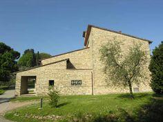 """Giovanni Michelucci (Pistoia 1891 - Firenze 1990), """"Chiesa dei SS. Pietro e Girolamo"""", progetto: 1946 - costruzione: 1952 Pistoia (PT), Collina - via di Collina, 6"""