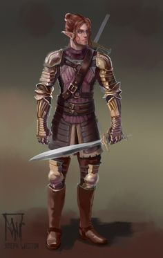 m Elf Fighter Elfen Protector by Jaasif on deviantART World Of Fantasy, Fantasy Male, Eldritch Knight, Arcane Trickster, Character Creation, Character Art, Dark Elf, Dark Forest, Character Portraits