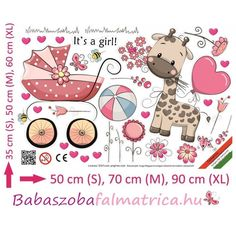 Kislány zsiráf lufival gyerek falmatrica #zsiráfos #babaszoba #falmatrica Minion, Comics, Pink, Scrap, Art, Bebe, Art Background, Kunst, Minions