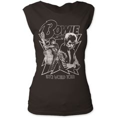 David Bowie 1972 World Tour Women's Vintage T-shirt