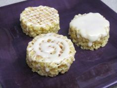 Cinnamon Roll Rice Crispy Treats