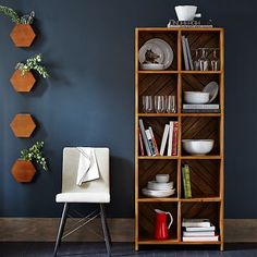 """Patterned Crate Bookshelf #westelm Overall product dimensions: 28.5""""w x 13""""d x 72""""h.solid mango wood"""