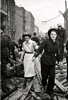 London:  air raid aftermath